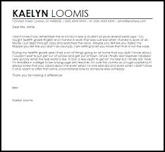 Student Appreciation Letter Example Good Resume Template