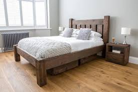 rustic wood bed frame. Unique Frame Reclaimed Wooden Beds Rustic Solid Wood Bed Frames Eat Sleep Intended Frame T