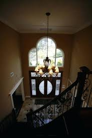 entryway lighting high ceiling the foyer chandelier operates on an automatic lift home design entryway lighting high