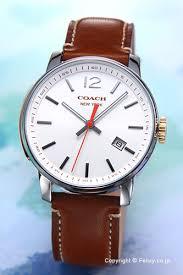 trend watch rakuten global market coach coach mens watch coach coach mens watch breecer bleecker white brown leather strap 14601520