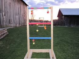 Wooden Ladder Ball Game Simple Bolo Toss Ladder Golf A Stable Version With Pictures