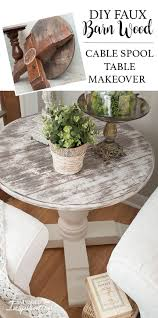 diy dining room table makeover. Before \u0026 After Faux Barn Wood Spool Table Diy Dining Room Makeover
