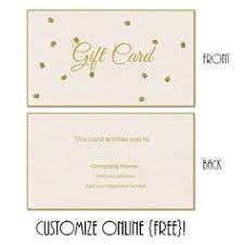 Free Customizable Gift Certificate Template Free Printable Gift Card Templates That Can Be Customized Online