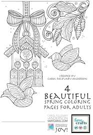 4 Beautiful Spring Coloring Pages For Adults Free Adult Coloring