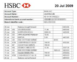 Sample Bank Statements Bank Statements From The Last 3 Months Showing You Have The Funds
