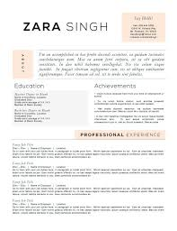 Resume Templates To Highlight Your Accomplishments Job Resume