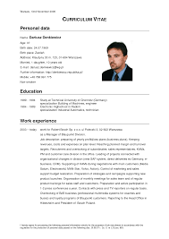 German Resume Example Examples Of Resumes