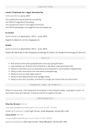 Law Cv Templates In Word To Download Free No