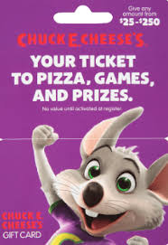 chuck e cheese gift card balance chuck e cheese gift card deals and offers gift card balance