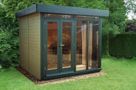 outdoor garden office. 8 x contemporary office with a pent roof customer painted the building topiary outdoor garden