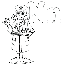 Nurse Coloring Book Nurse Coloring Pages Male Nurse Cake With Male