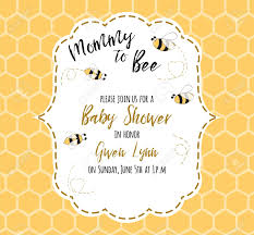 Baby Shower Invitations Template Stock Illustration