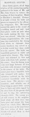 Mabel Graves weds Theodore Marshall - Newspapers.com