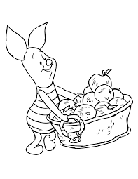 Winnie The Pooh Piglet With Apple Coloring Pages Get Coloring Pages