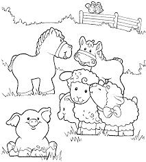 Small Picture Coloring Pages Farm Animals Toddlers Coloring Pages