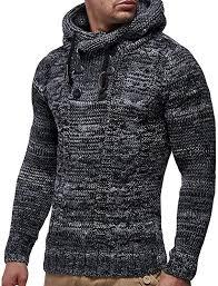 <b>Knitted Sweater</b>,Mens Winter Hooded <b>Pullover</b> Plus Size <b>Knitting</b> ...