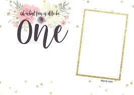 Print Birthday Invitation Free Printabe Boho Chic First Birthday Invitation Templates