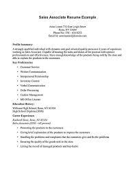 Sales associate objective resume sample