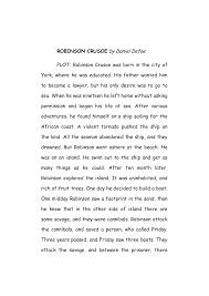 robinson crusoe riassunto e analisi in inglese docsity inglese robinson crusoe by daniel defoe