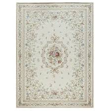 country fl victorian traditional chenille fl beige area rug carpet