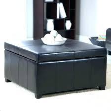 black leather coffee table elegant black ottoman coffee table round