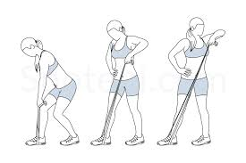 Lawnmower Band Pull Illustrated Exercise Guide