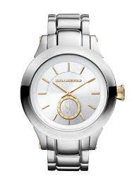 karl lagerfeld kl1209 chain silver gold mens bracelet watch in gallery
