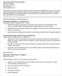 Construction Worker Resume Best 1724 24 Sample Construction Worker Resumes Sample Templates