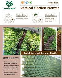 worth vertical planter system on a wall