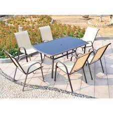 Doral Designs - San Antonio <b>7 Piece Outdoor Dining</b> Set