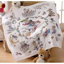 19 best St&ed crossstitch quilts images on Pinterest   3/4 beds ... & Mary Engelbreit Lap Quilt Stamped Cross-Stitch Kit Adamdwight.com