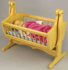 Doll Cradle Plans includes free PDF download.