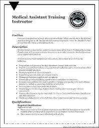 Medical Assistant Resume Example Stunning Medical Assistants Resume Resumes For Medical Assistant Example