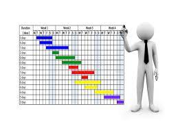 бизнесмен d конструируя планово контрольный график на экране   бизнесмен 3d конструируя планово контрольный график на экране касания Иллюстрация штока изображение
