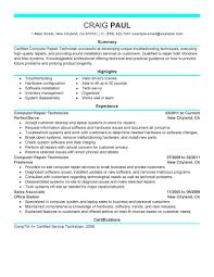 Smart Idea Computer Technician Resume 16 Computer Technician