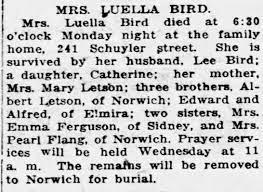 Obituary for LUELLA BIRD - Newspapers.com