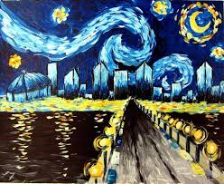 how to paint starry night in st pete evening class