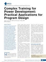 Nsca Program Design Pdf Pdf Complex Training For Power Development Practical
