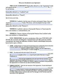 Standard Rental Agreement Template Standard Lease Agreement Template Threeroses Us
