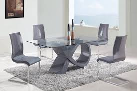 furniture rectangle gl dining table with x grey glossy base on collection of solutions contemporary gl dining room tables