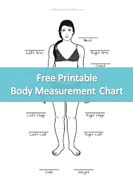 Printable Body Measurement Chart Weight Loss Pin On My Fitness