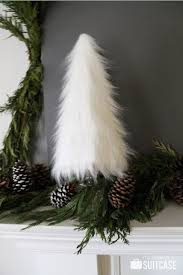 My Sister's Suitcase: A Rustic Modern Christmas Mantel - fur trees!