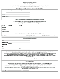 How To Fill Out Direct Deposit Form Direct Deposit Form Bank Letter For Direct Deposit Deposit Form In