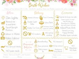 Surrogate Birth Plan Make A Visual Birth Plan Easy To Read And Fun To Look At