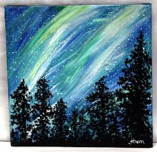 colorful easy painting google search canvas painting natureeasy