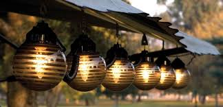 solar patio lighting ideas with hanging stained glass globe shade lamp large size