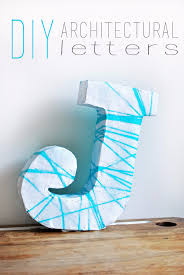 Small Picture 41 Amazing DIY Architectural Letters for Your Walls DIY Projects