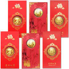 Amazon.com: Playstyle 6Pcs 2021 Chinese Ox Year HongBao Red Envelopes+6  Commemorative Coins, Lucky Money Packets for New Year Wedding, Gilding  Present Souvenir Craft Gift Lucky Zodiac Blessing Souvenir: Home & Kitchen