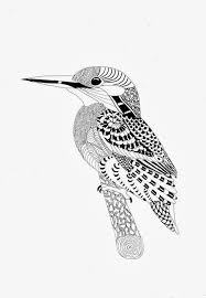 Efie Goes Zentangle Ben Kwok Kingfisher By Efie Geometrici