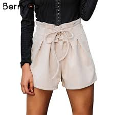 2019 berrygo lace up suede faux leather shorts women casual high waist shorts female 2017 loose soft winter women booms from feiyancao 24 77 dhgate com